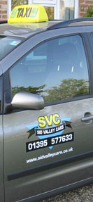 Sid Valley Cars - logo on side of taxi